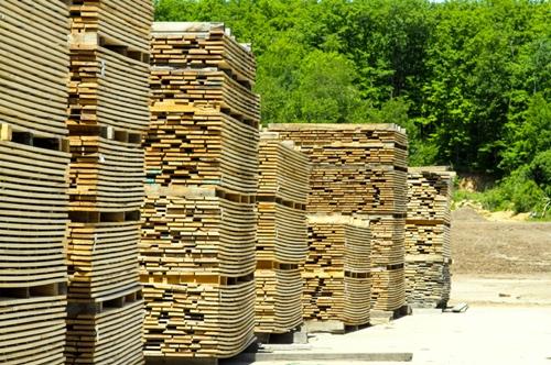 Lumber-stacked